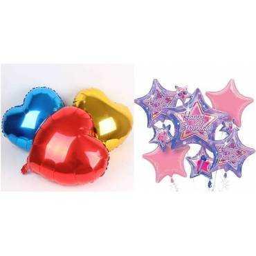 Balões estrelas/corações