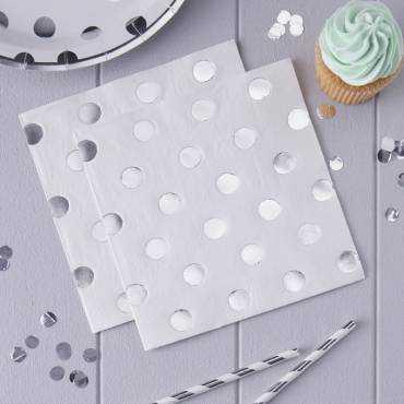 Metallic silver dots